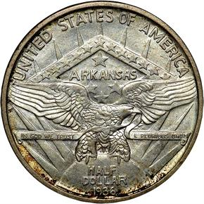 1936 S ARKANSAS 50C MS reverse