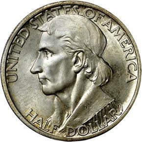 1935/1934 BOONE 50C MS obverse