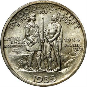 1935/1934 BOONE 50C MS reverse