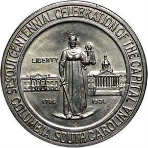 1936 S COLUMBIA 50C MS obverse