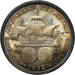 1892 COLUMBIAN 50C MS reverse
