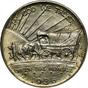1936 OREGON 50C MS reverse