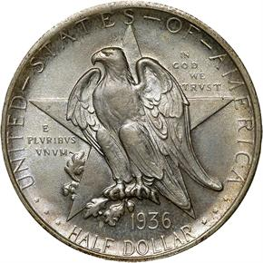 1936 TEXAS 50C MS obverse