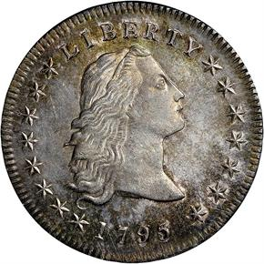 1795 FLOWING HAIR S$1 MS obverse
