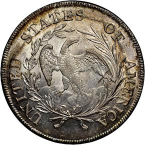 1798 SMALL EAGLE S$1 MS reverse