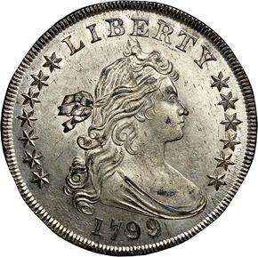 1799/8 S$1 MS obverse