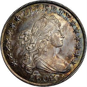 1802/1 S$1 MS obverse