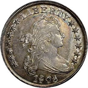 1803 S$1 MS obverse