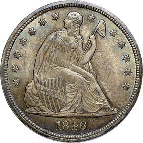 1846 S$1 MS obverse