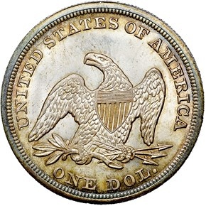 1846 S$1 MS reverse