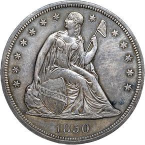 1850 S$1 MS obverse
