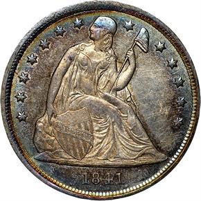 1841 S$1 MS obverse