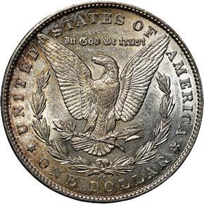 1890 CC S$1 MS reverse