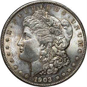 1903 O S$1 MS obverse