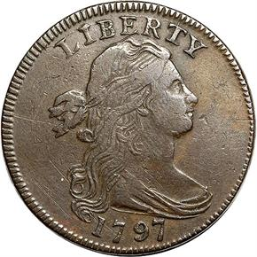 1797 GRIPPED EDGE 1C MS obverse