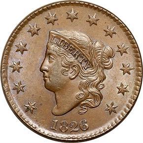 1826 1C MS obverse