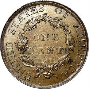 1823 COPPER RESTRIKE 1C MS reverse