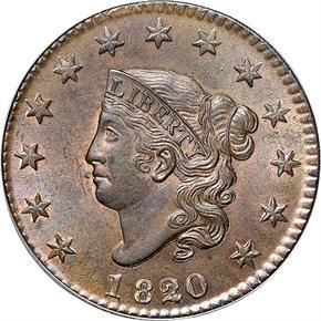 1820/19 1C MS obverse