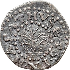 1662 SMALL 2 OAK TREE MASSACHUSETTS 2P MS obverse