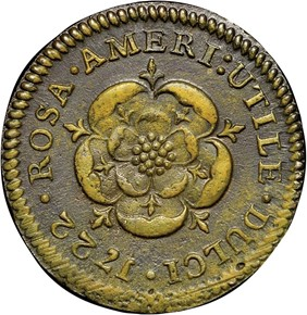 1722 'D.G.' ROSA AMERICANA 1/2P MS reverse