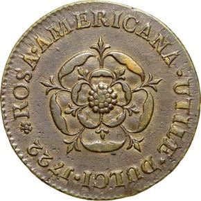 1722 'UTILE DULCI' ROSA AMERICANA 1P MS reverse
