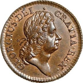 1723 HIBERNIA 1/2P MS obverse