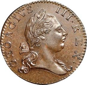 1773 NO PERIOD VIRGINIA 1/2P MS obverse