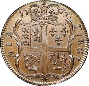 1773 NO PERIOD VIRGINIA 1/2P MS reverse