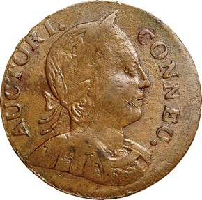 1786 LARGE HEAD RIGHT CONNECTICUT MS obverse