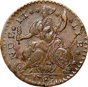 1787 'CONNECT' CONNECTICUT MS reverse