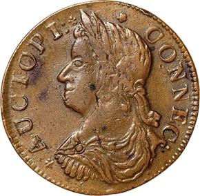 1787 'AUCTOPI' CONNECTICUT MS obverse