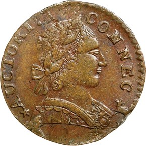 1788 MAILED BUST RIGHT CONNECTICUT MS obverse