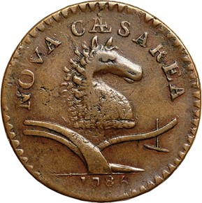 1786 UNDER PLOW NEW JERSEY - NO COULTER MS obverse