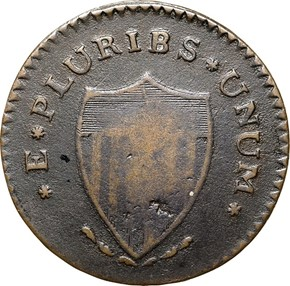1787 'PLURIBS' NEW JERSEY MS reverse