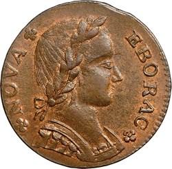1787 FIGURE LEFT NOVA EBORAC MS obverse