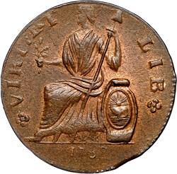 1787 FIGURE LEFT NOVA EBORAC MS reverse