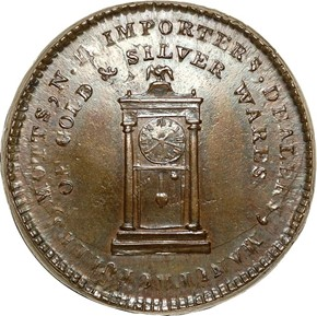 '1789' THICK PL EDGE MOTT COMPANY TOKEN MS obverse