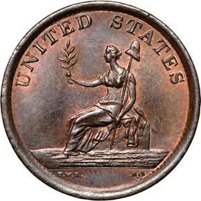 1783 LARGE BUST WASHINGTON & INDEPENDENCE MS reverse
