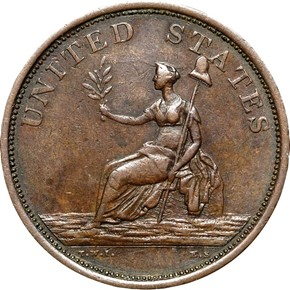 1783 GR EDGE SMALL BUST WASHINGTON & INDEPENDENCE MS reverse