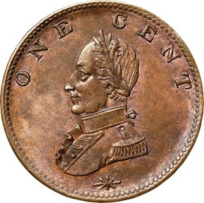 (UNDATED) WASHINGTON DOUBLE HEAD MILITARY BUST 1C MS reverse
