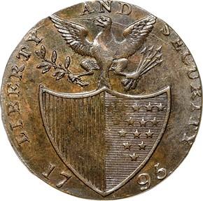 1795 PLAIN EDGE LIBERTY & SECURITY 1/2P MS reverse