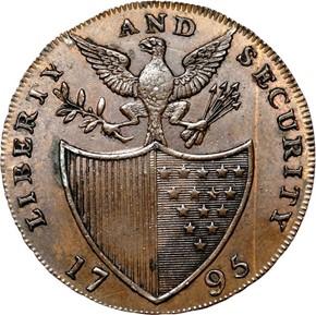 1795 L.E. 'ASYLUM' LIBERTY & SECURITY 1/2P MS reverse