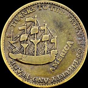 1766 WILLIAM PITT 1/4P MS reverse