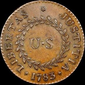1783 SM 'US' POINT RAYS NOVA CONSTELLATIO MS reverse