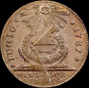 1787 4 CINQ P.R. FUGIO 'STATES UNITED' 1C MS obverse