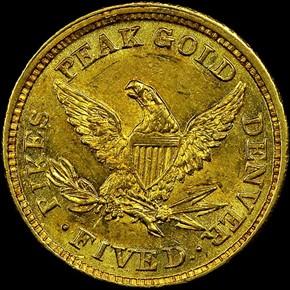 1860 CLARK, GRUBER & CO. $5 MS reverse