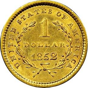 1852 G$1 MS reverse
