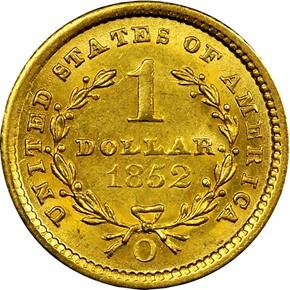 1852 O G$1 MS reverse