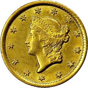 1853 O G$1 MS obverse