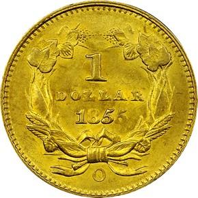 1855 O G$1 MS reverse